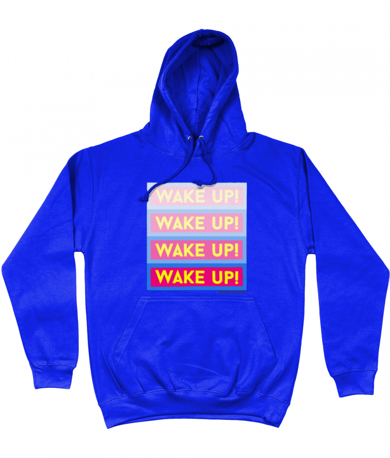 Wake Up Unisex Hoodie - designed by The Love Tectonic